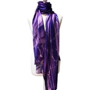 Ultra Violet Wave, Pure Silk Scarf, Pantone colour of the year 2018
