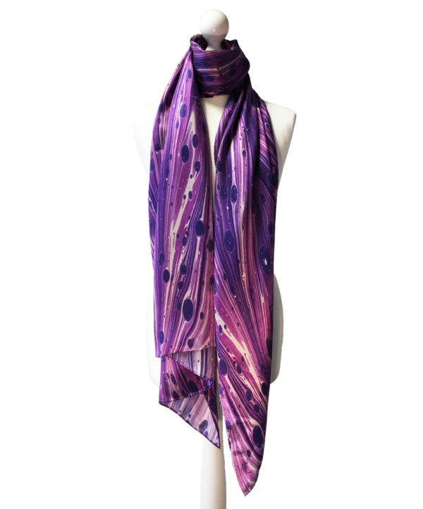 Ultra Violet Layers, Pure Silk Scarf, Pantone colour of the year 2018